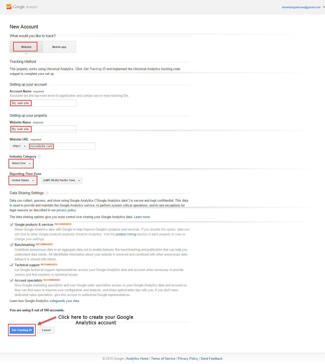 how to delete account from google analytics