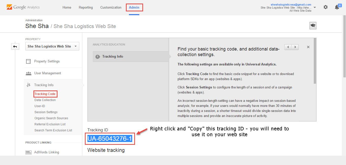 google-analytics-tracking-id