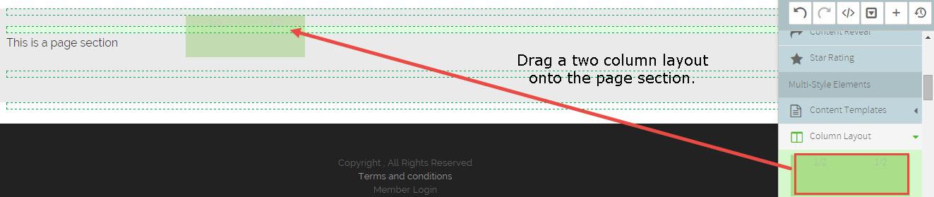 visual-designer-drag-column-layout