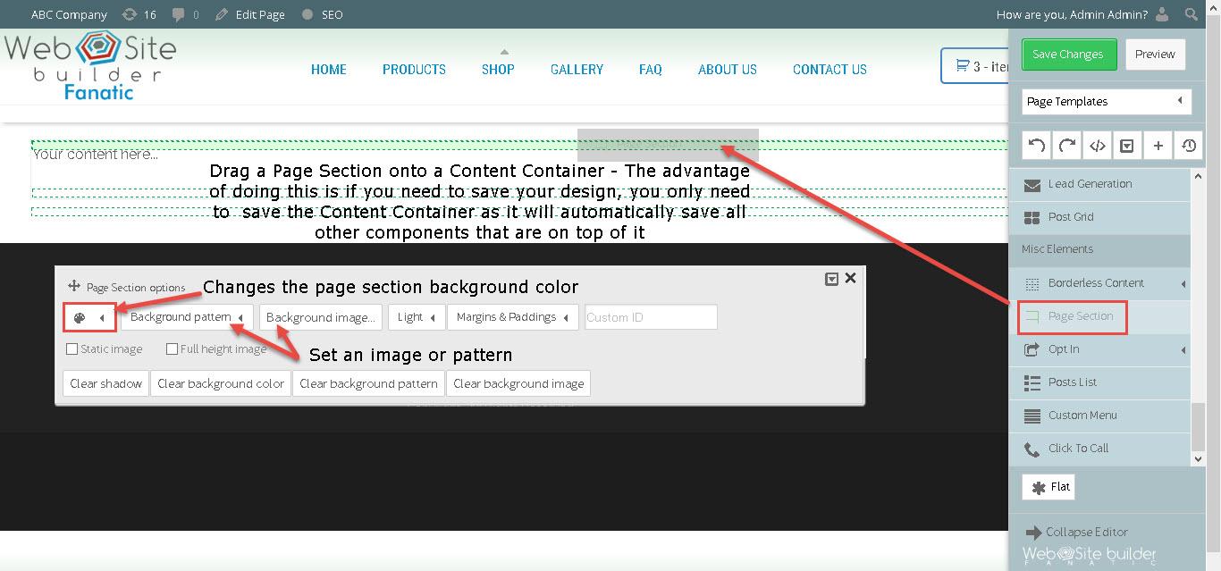 visual-designer-drag-page-section